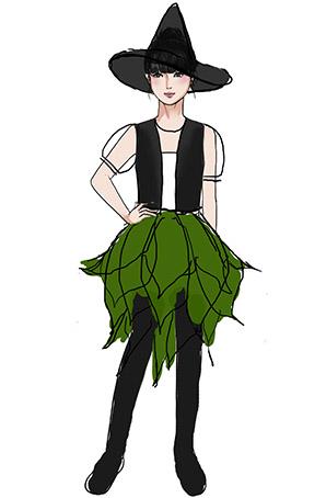 校园舞台演出服装女巫表演服装定制