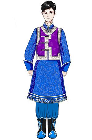 校园舞蹈演出服装儿童蒙古族演出服装定制