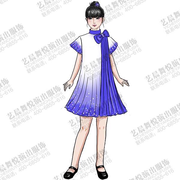 校园大合唱演出服装学生表演服装舞台演出服定制