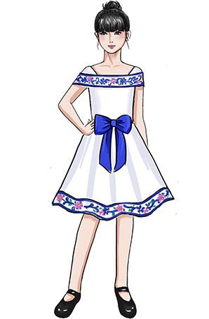 校园学生演出礼服舞台学生表演舞台礼服设计厂家