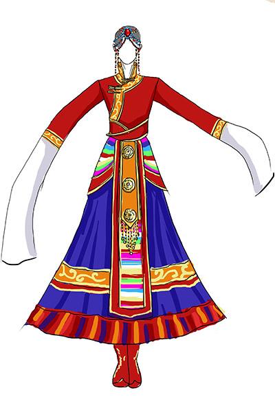 藏族舞表演舞台服饰制作生产供应商