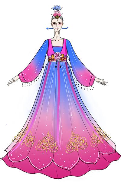 朝鲜族舞台演出服装设计定做供应商直销