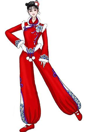 秧歌舞蹈演出服装设计男女舞台演出服装定做