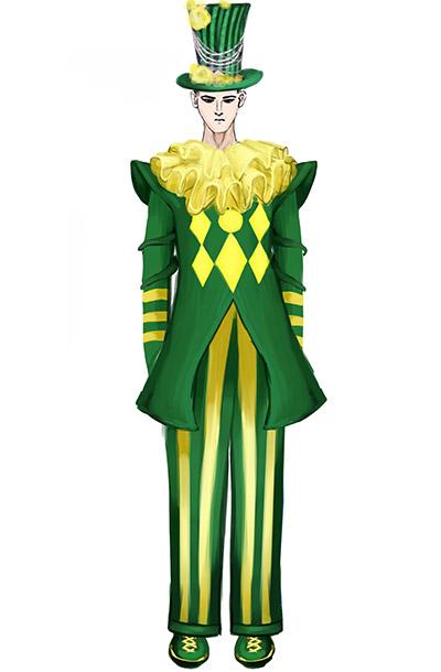 马戏团魔术表演服装设计新款景区演出服装小丑舞台表演服装设计