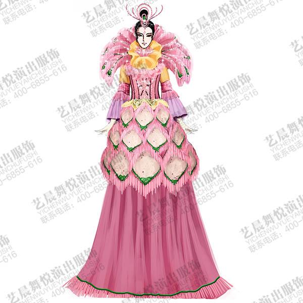 游乐场游园威尼斯高跷演出服装设计,狂欢节巡游高跷演出服装设计!