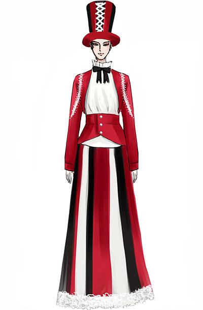 舞台演出服装魔术师表演服装设计,马戏团小丑演出服装设计