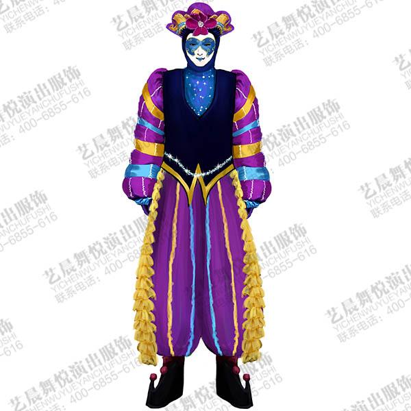 马戏团小丑演出服装定制,舞台小丑表演服装设计
