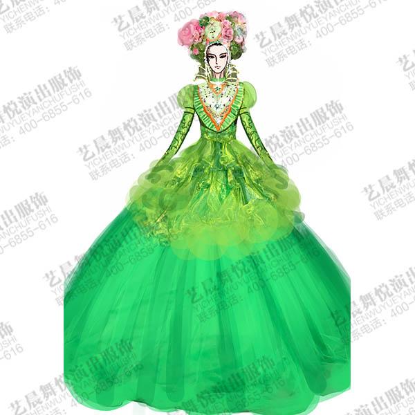 世界威尼斯大型游园活动演出服装设计,狂欢节装扮服装定制