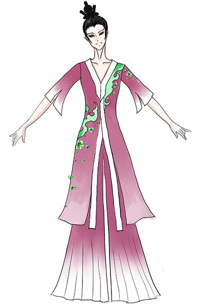 古典舞表演服装女长款古典舞台服饰设计定做