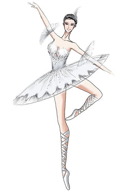小天鹅舞表演服装芭蕾舞蹈服天鹅湖服装定做供应商