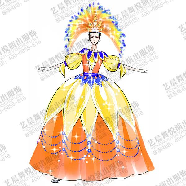 舞台演出服装花灯表演服装设计与定制,景区花车巡游演出服装花灯服装设计!