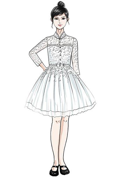 儿童合唱比赛演出服装设计蓬蓬裙校园合唱表演服装定制!