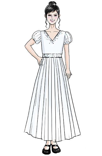 学生合唱演出服装儿童女子舞台合唱比赛服装定制