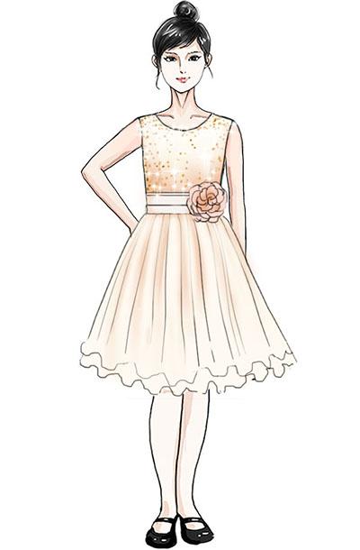 儿童合唱比赛演出服装定制校园合唱礼裙设计!