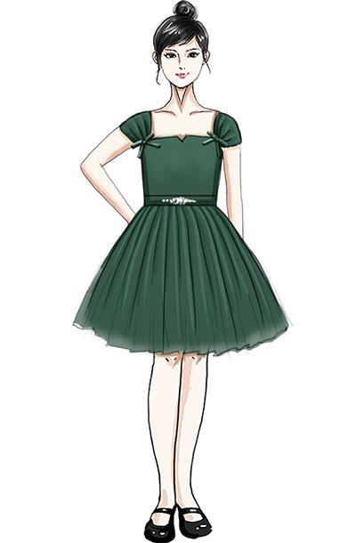 儿童合唱演出服装设计纱织校园演出服装定制!