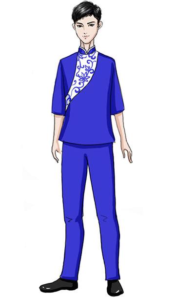 校园合唱演出服蓝色儿童合唱演出服装设计!
