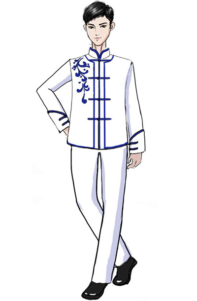 校园合唱服定制新款中式儿童合唱服!
