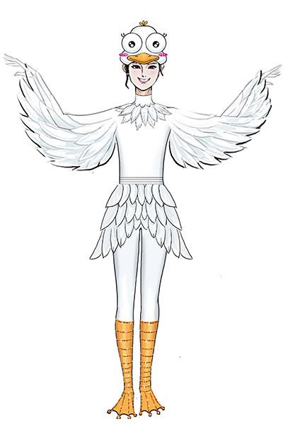 卡通人偶演出服装设计校园课本剧演出服装设计