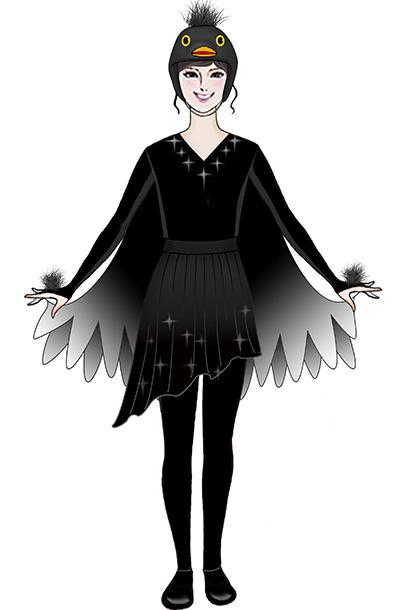 舞台演出服装卡通人偶乌鸦装扮服装!