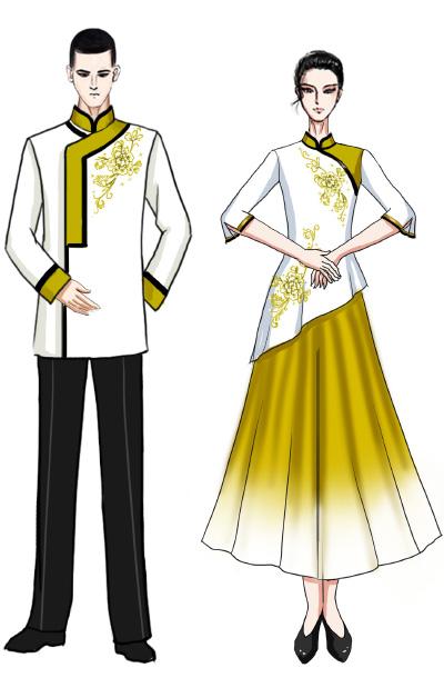 成人舞台演出服装中式合唱演出服装设计与定制!