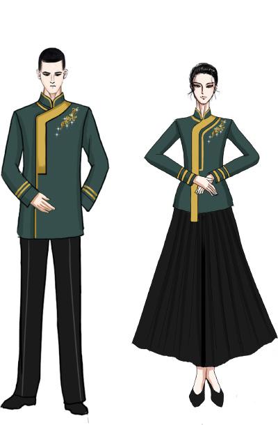 庆典合唱演出服装中式合唱演出礼服设计与定制