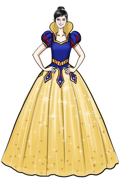 儿童课本剧《白雪公主和七个小矮人》演出服装套装设计!