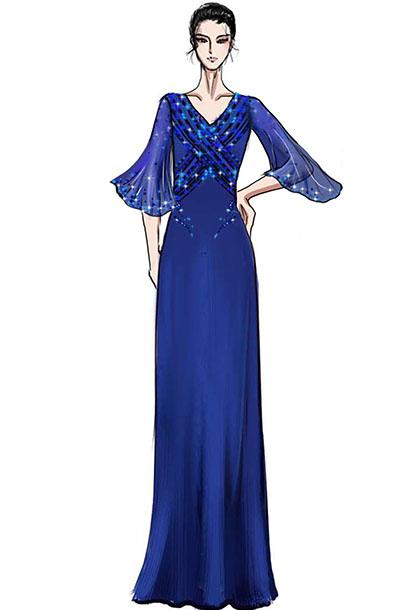 高端音乐会舞台演出礼服,钢琴师舞台表演服装设计