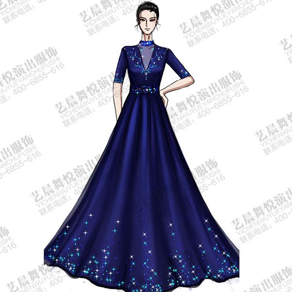 钢琴师顺滑舞台演出礼服设计与定制钢琴舞台表演礼服设计!