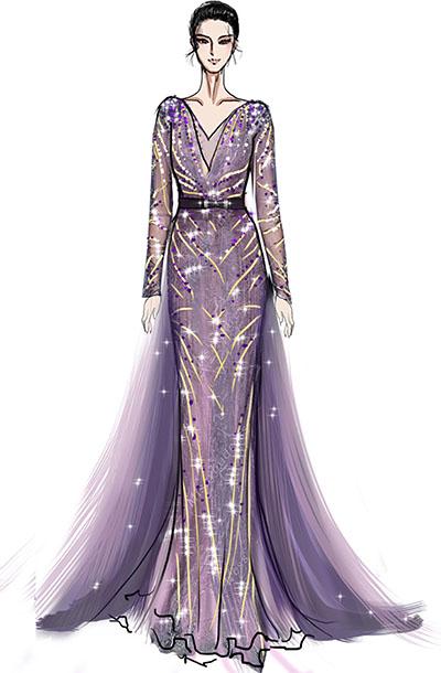 长尾托钢琴师演出礼服设计与定制,音乐会钢琴师舞台表演服装设计!
