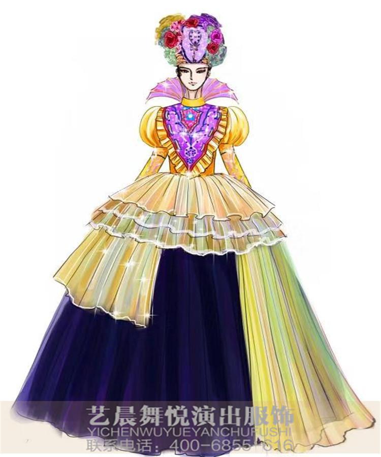 景区巡游演出服装定制,大型游乐园花车巡游演出服装设计
