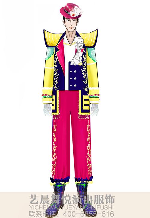 大型舞台演出服装乐队表演服装设计景区乐队演出服装定制