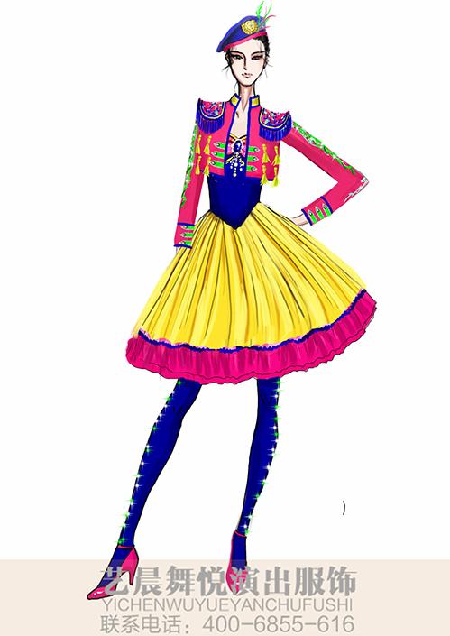 景区女式乐队演出服装定制女式乐队表演服装设计!