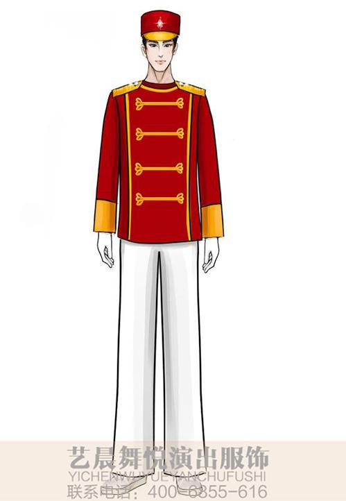 景区乐队男式演出服(欢快氛围)乐队表演服设计!