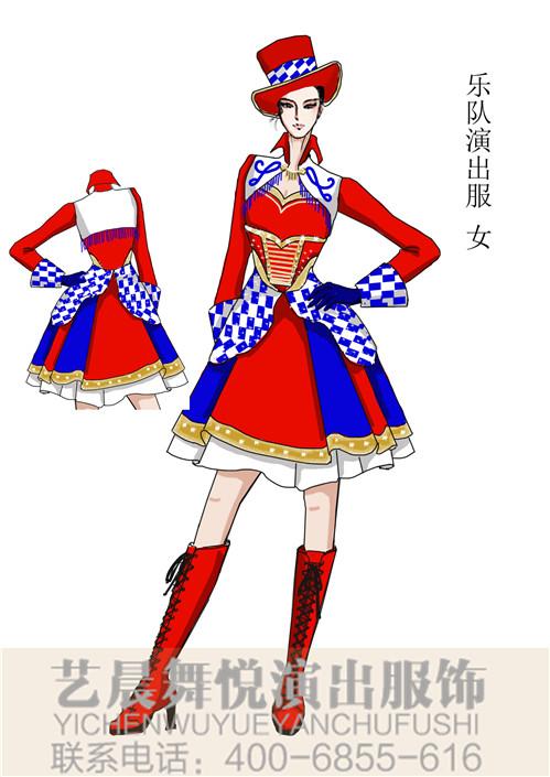 景区乐队女式演出服(喜庆氛围)乐队表演服定制!