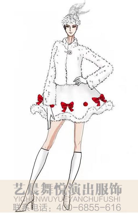 女式主持人(欢快氛围)演出服装定制景区主持人服装定制!