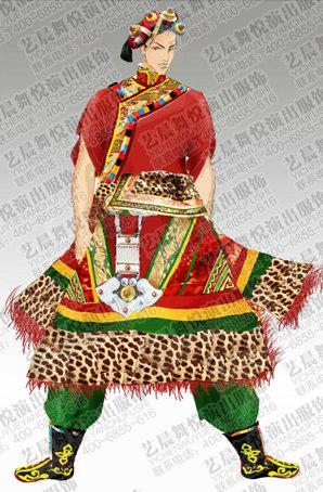 藏族舞蹈服设计舞台演出服套装藏族舞蹈服装