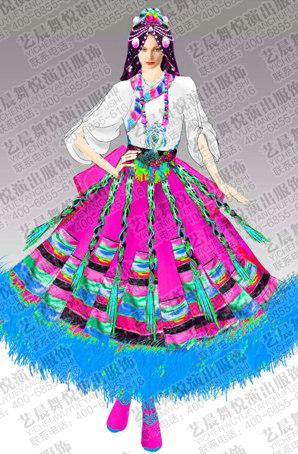 藏族舞蹈服装设计藏族舞蹈服装定制藏族舞蹈服装制作厂家