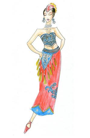 傣族舞服设计少数民族服装定制