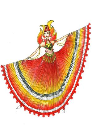 傣族舞蹈演出服装设计民族舞蹈演出服装设计