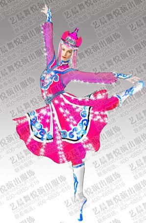 蒙古族舞蹈服设计舞台演出服套装蒙古族舞蹈服装