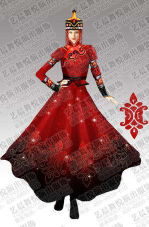 蒙古族舞服装设计蒙古族舞服装定制蒙古族舞服装定制厂家