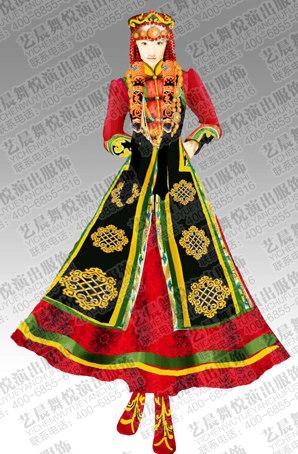 蒙古族舞蹈服装设计蒙古族舞蹈服装定制蒙古族舞蹈服装制作厂家