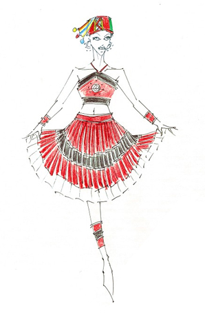 简单而不简约的民族服装设计图片展示