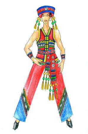 哈尼族舞蹈服饰设计舞台服装设计