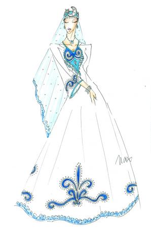 回族舞蹈服装设计女舞台演出服定制