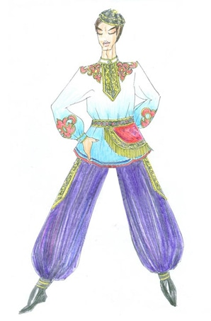 新疆演出服订制少数民族舞蹈服装设计定制厂家