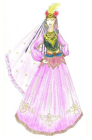 新疆舞蹈服装设计 新疆演出服装定做 民族舞蹈服装定做厂家