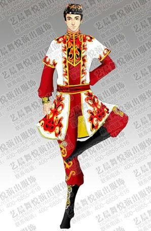 民族舞服设计新疆舞蹈演出服定做新疆舞蹈服装定制厂家
