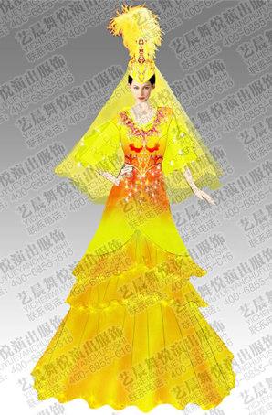 艺晨舞悦少数民族舞蹈演出服定做新疆舞蹈服装女新疆舞蹈服装定制厂家