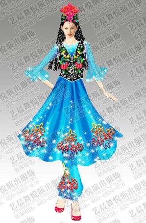 新疆舞服装设计新疆舞服装定制新疆舞服装制作厂家